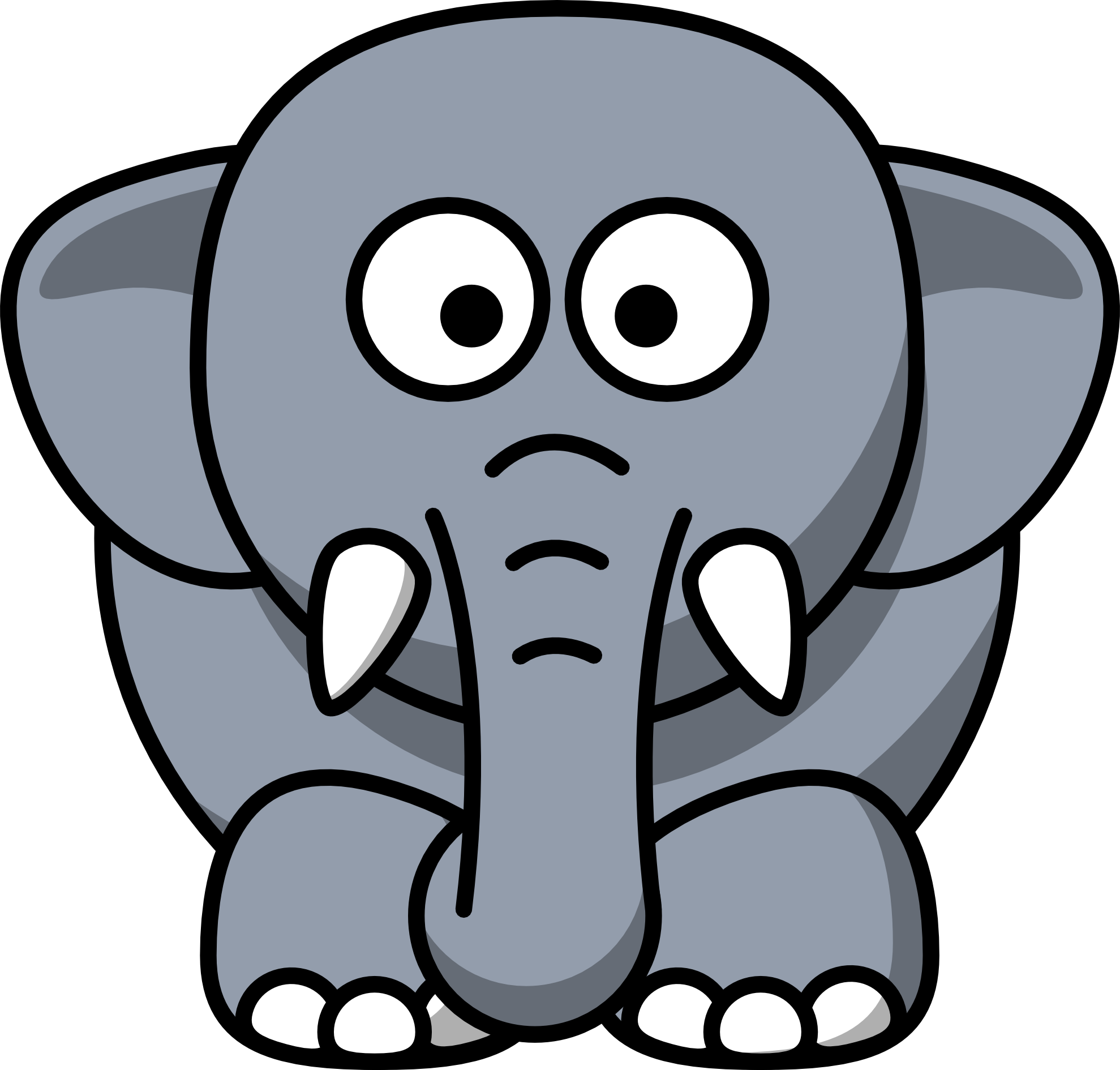 Getting back into working. Elephant clip art easy image black and white library