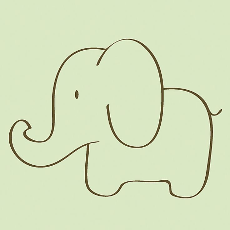Elephant clip art easy. Drawing at getdrawings com