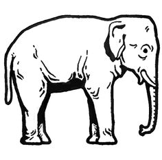 Elephant clip art easy. Free clipart page of