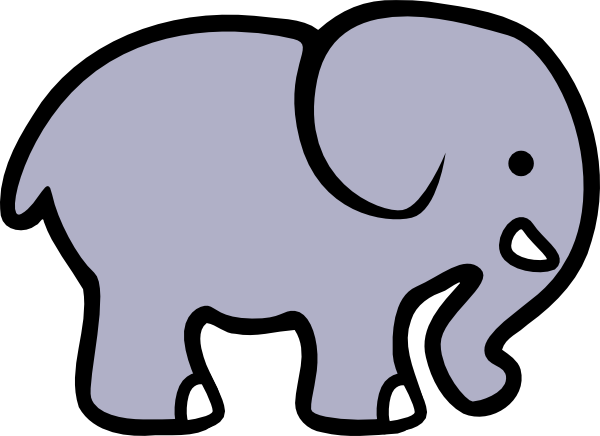 Elephant clip art easy. Cartoon at clker com