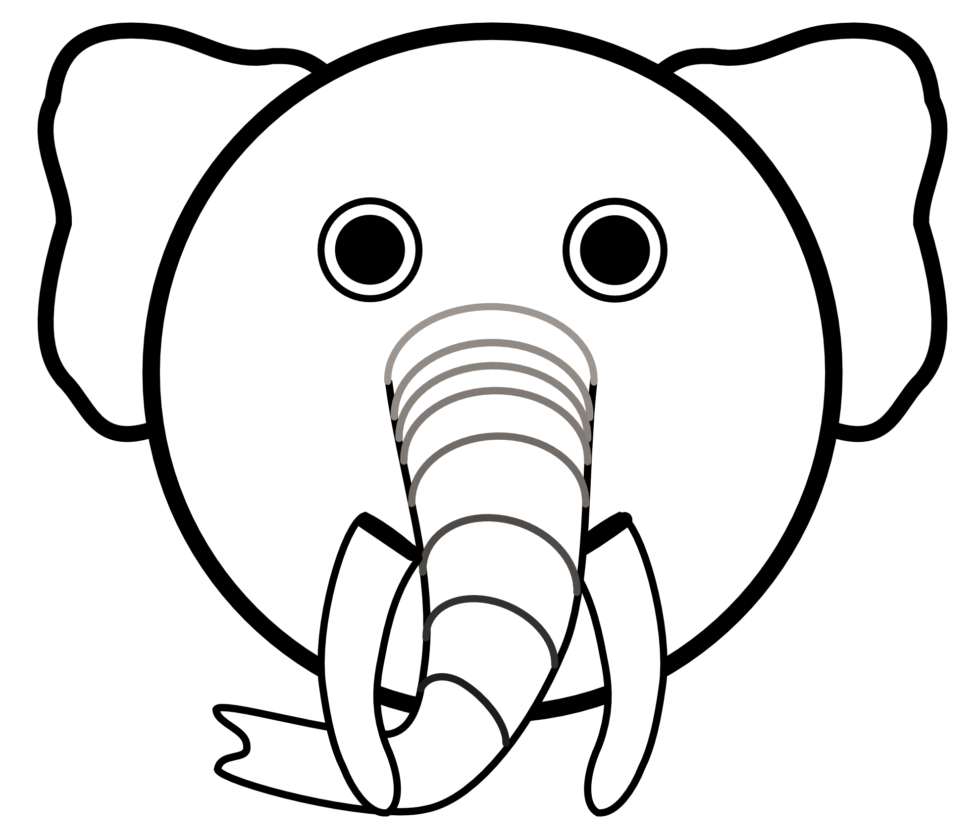 Clipart panda free images. Elephant clip art elephant head banner freeuse download