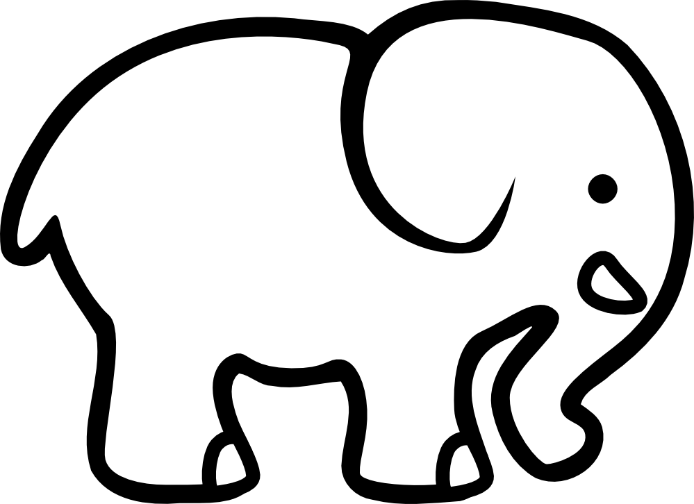 Elephant clip art simple. Free head outline download