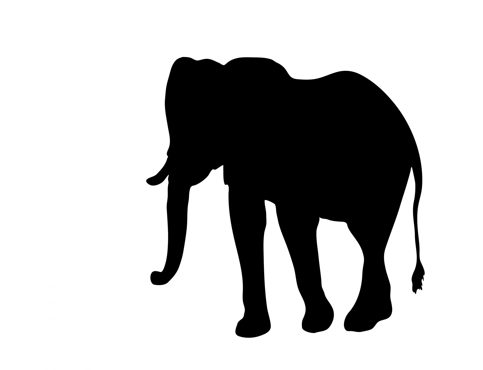 Clipart silhouette free stock. Elephant clip art elephent image free