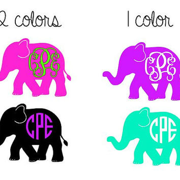 Elephant clip art monogram. Best decal products on