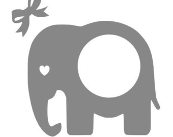 Elephant clip art monogram. Clipart pencil and in
