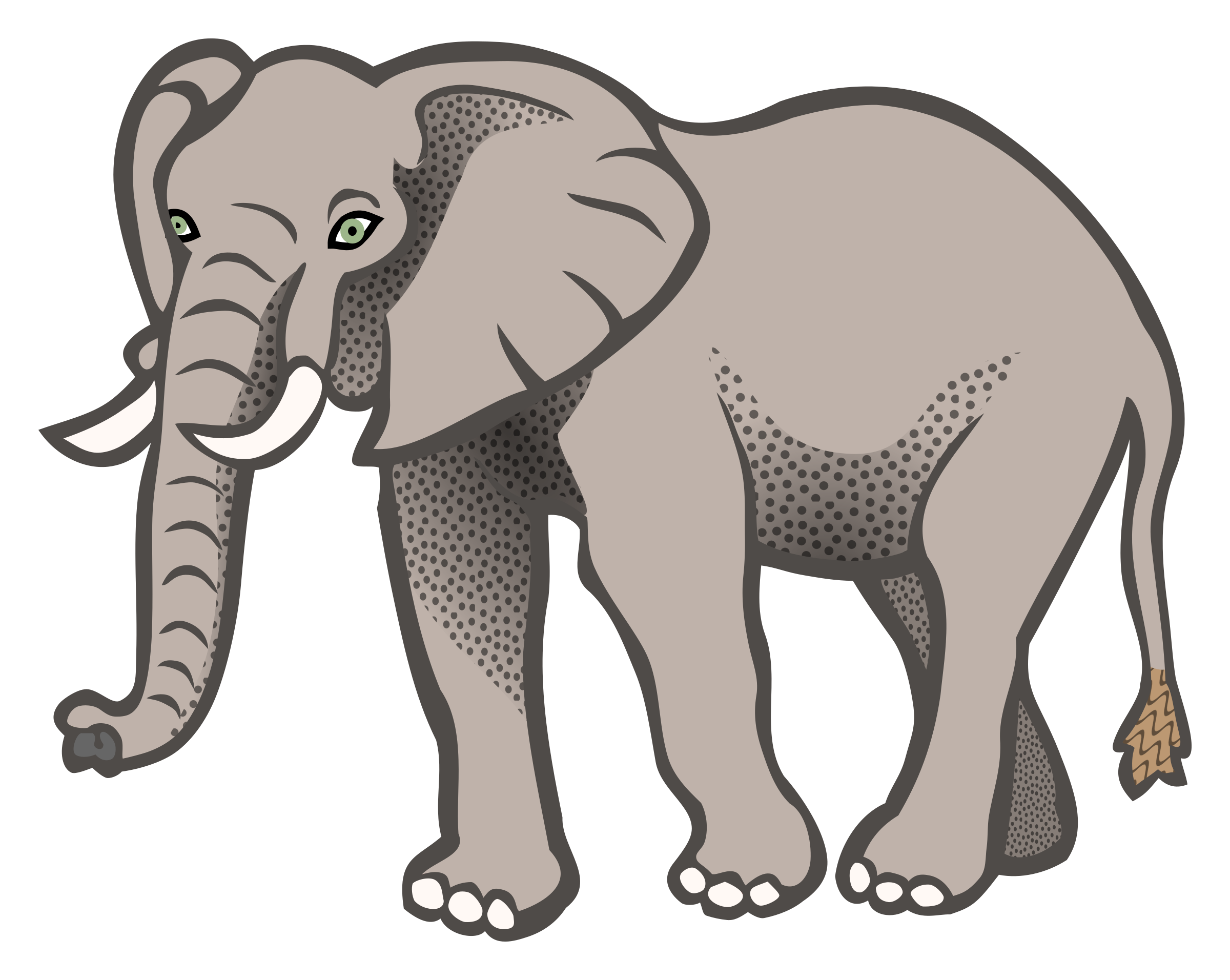 Elephant clip art realistic. Coloured icons png free