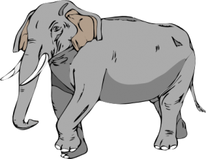 Elephant clip art realistic. Free to use public