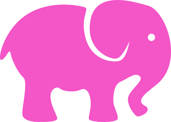 Pink at clker com. Elephant clip art simple png royalty free library