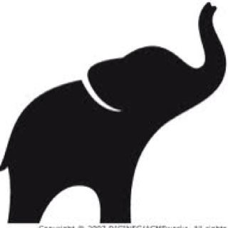 I want a really. Elephant clip art simple vector royalty free library