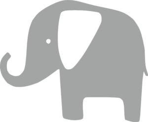 Gray at clker com. Elephant clip art simple banner library stock