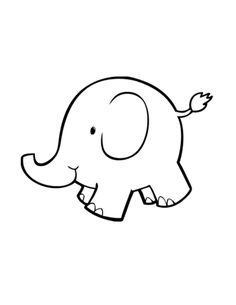Google image result for. Elephant clip art simple freeuse library