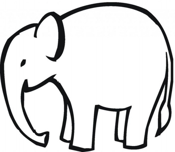 Elephant clip art simple. Clipart pencil and in