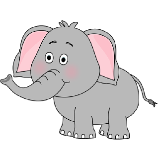 Elephant clip art transparent background. Brown baby images all