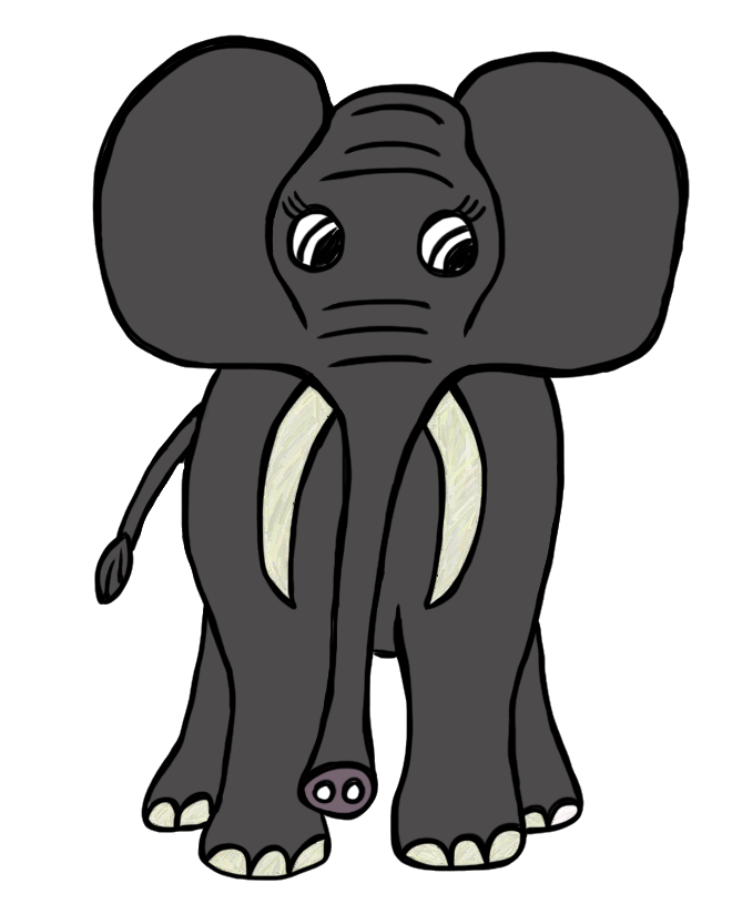 Animals clipart plant. Free elephant images download