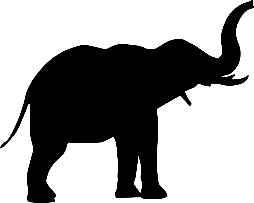Elephant icon png. Side view svg free