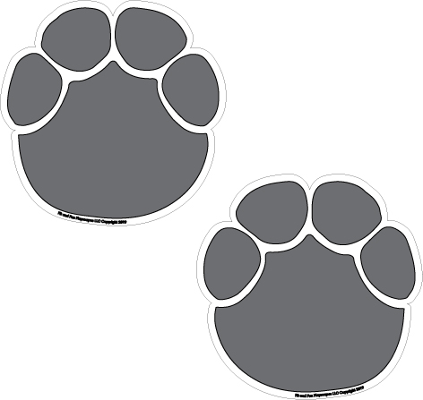 Elephant paw. Prints super stickers