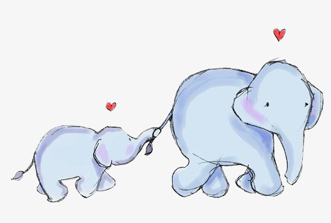 Elephant tail. Clipart station