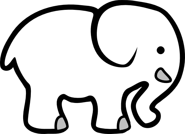 At clker com vector. Elephant clip art black and white banner freeuse library
