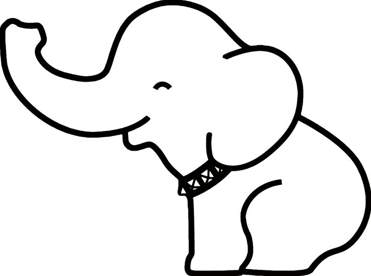 String clipart outline. Easy drawing elephant at