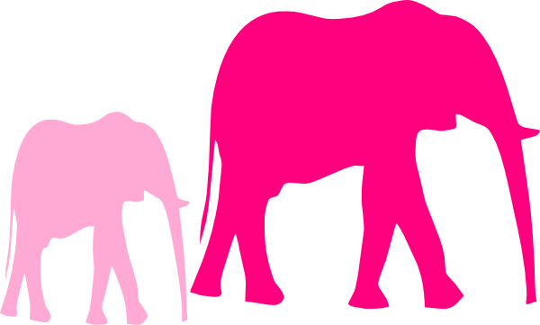 Elephant baby shower png. Mom and silhouette at