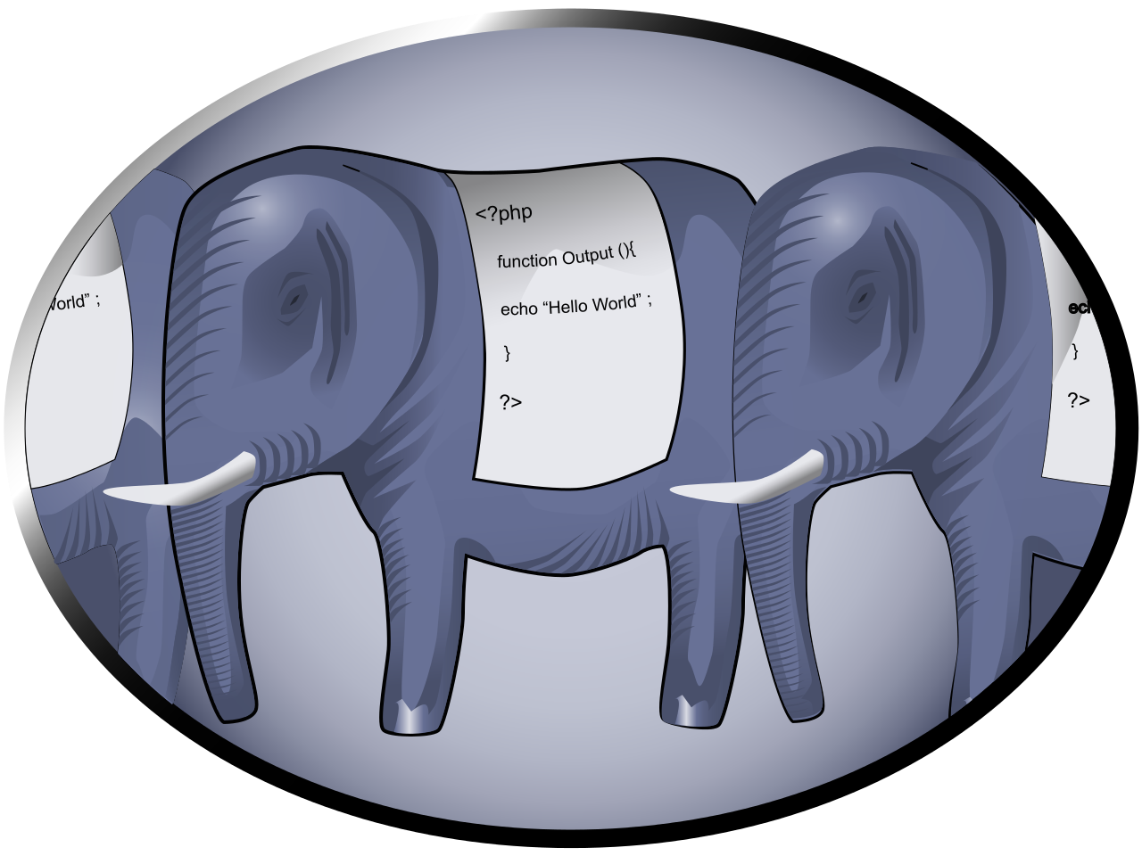 Php vector elephant. File logo svg wikipedia