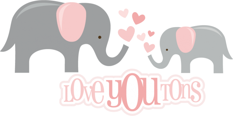Elephants svg baby shower. Love you tons files