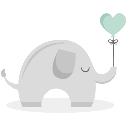 Elephants svg balloon clip art. Baby elepahnt cutting files