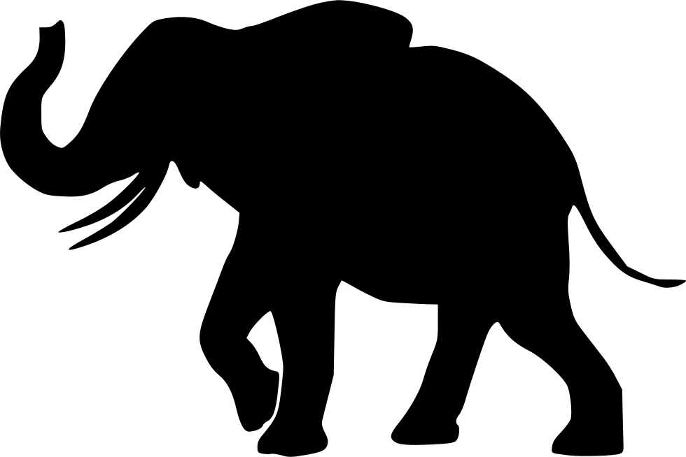 Elephants svg file. Elephant png icon free