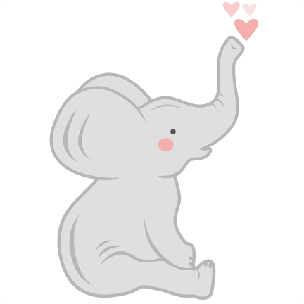 Elephants svg adorable. Baby elephant scrapbook cut
