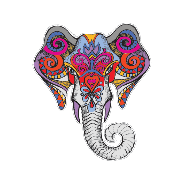 Patterned drawing at getdrawings. Elephant clip art elephant head clip library download