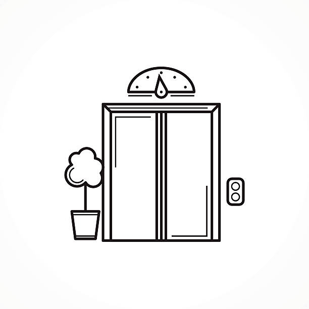 Elevator clipart. Black and white letters