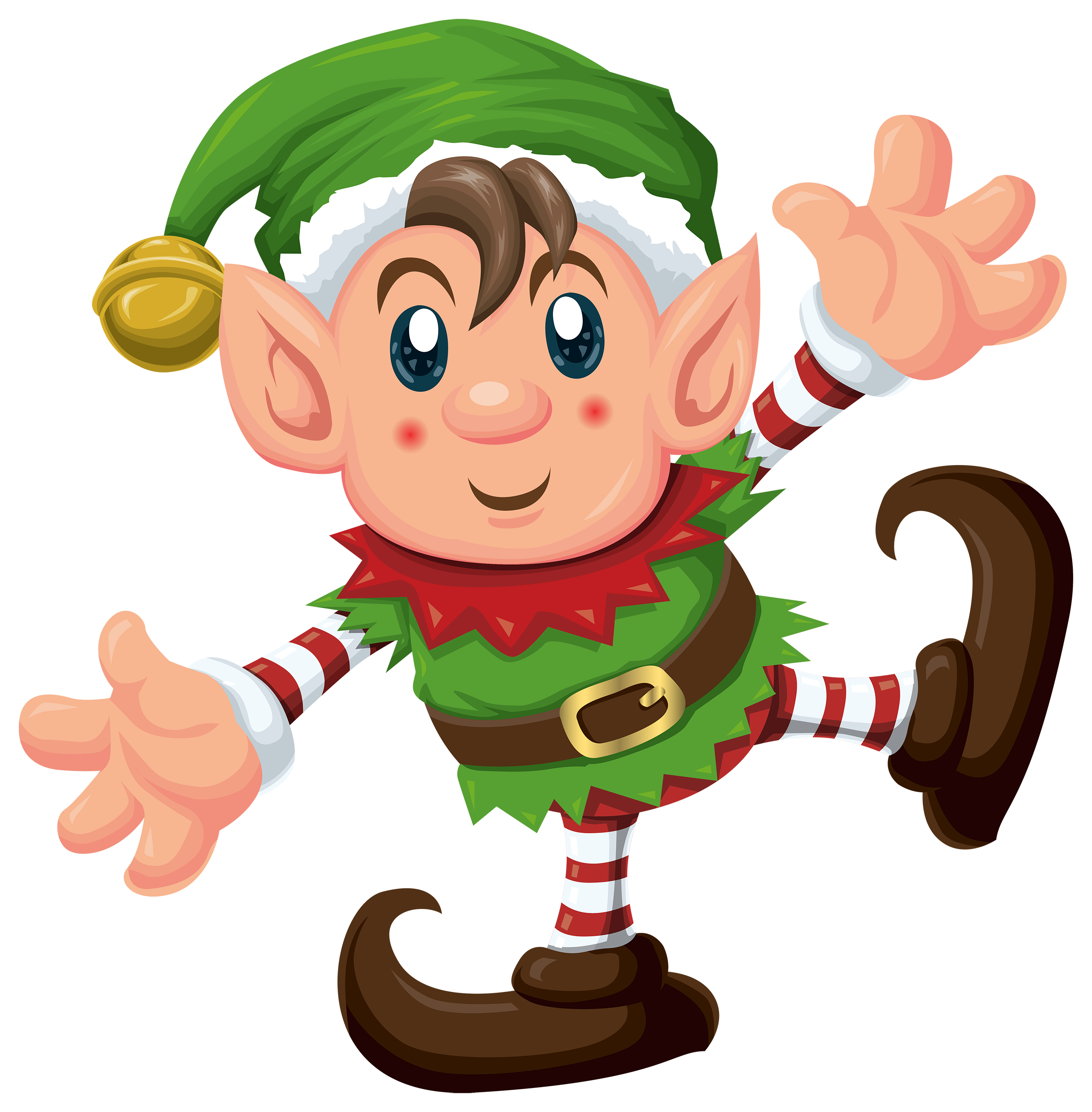 Drawing elves cartoon