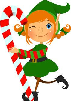 Elf clipart. Cartoon christmas elves stock
