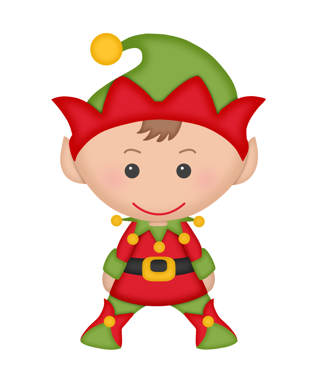 Elf clipart kawaii. Cartoon christmas santa