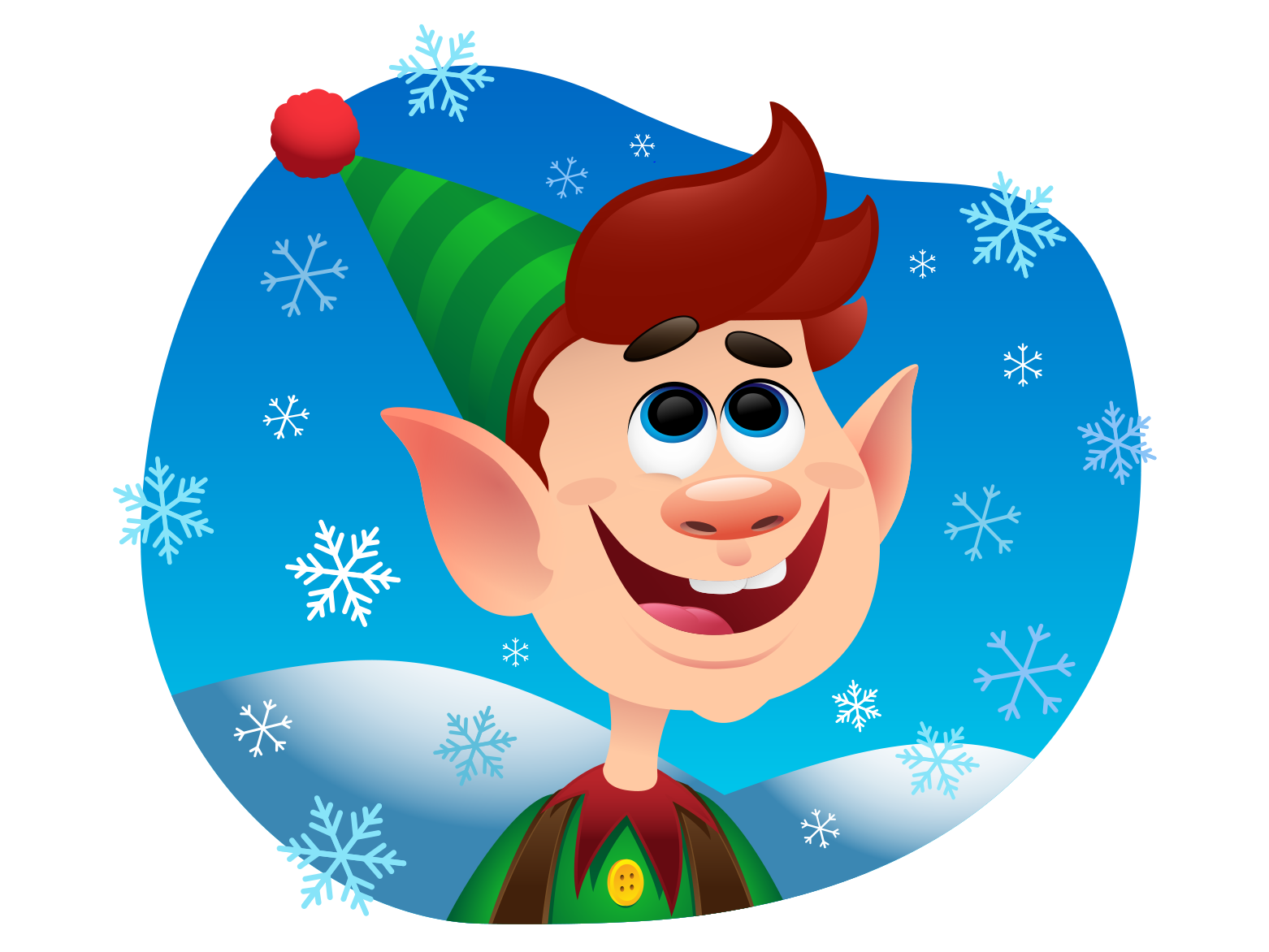 Elf clipart adorable. Christmas by ziv ariely