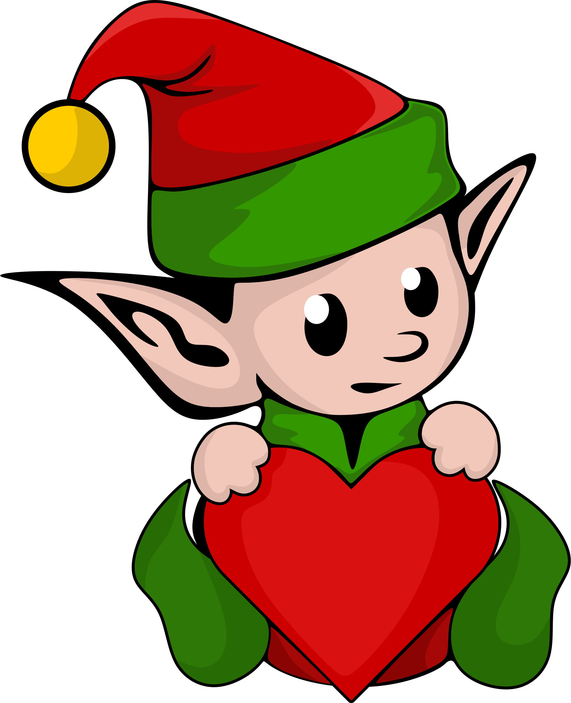 Elf clipart couple. Valentine by serioustux with