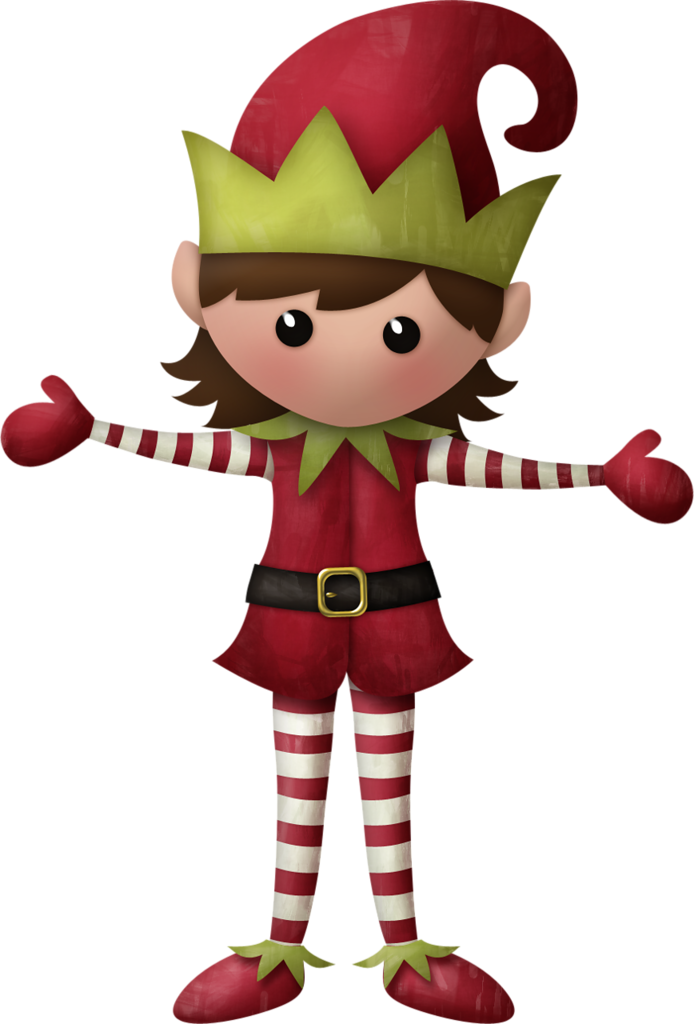 Elf clipart couple. Free girl christmas cliparts
