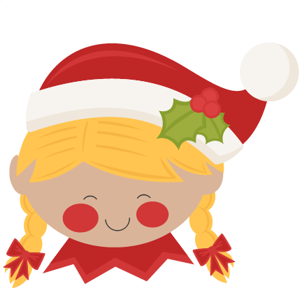 Elf clipart female. Christmas girl svg scrapbook