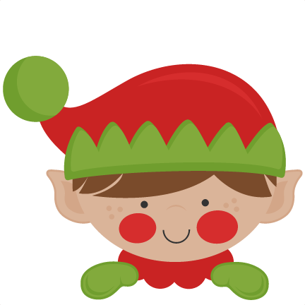 elf clipart peeking