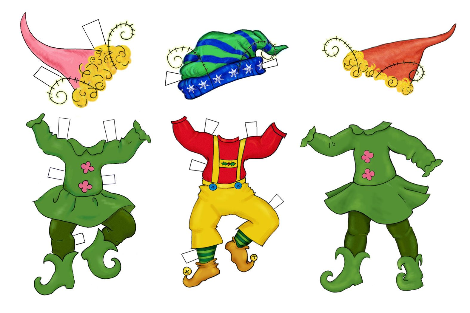 Elf clipart cut out. Patterns chickpeastudio has these