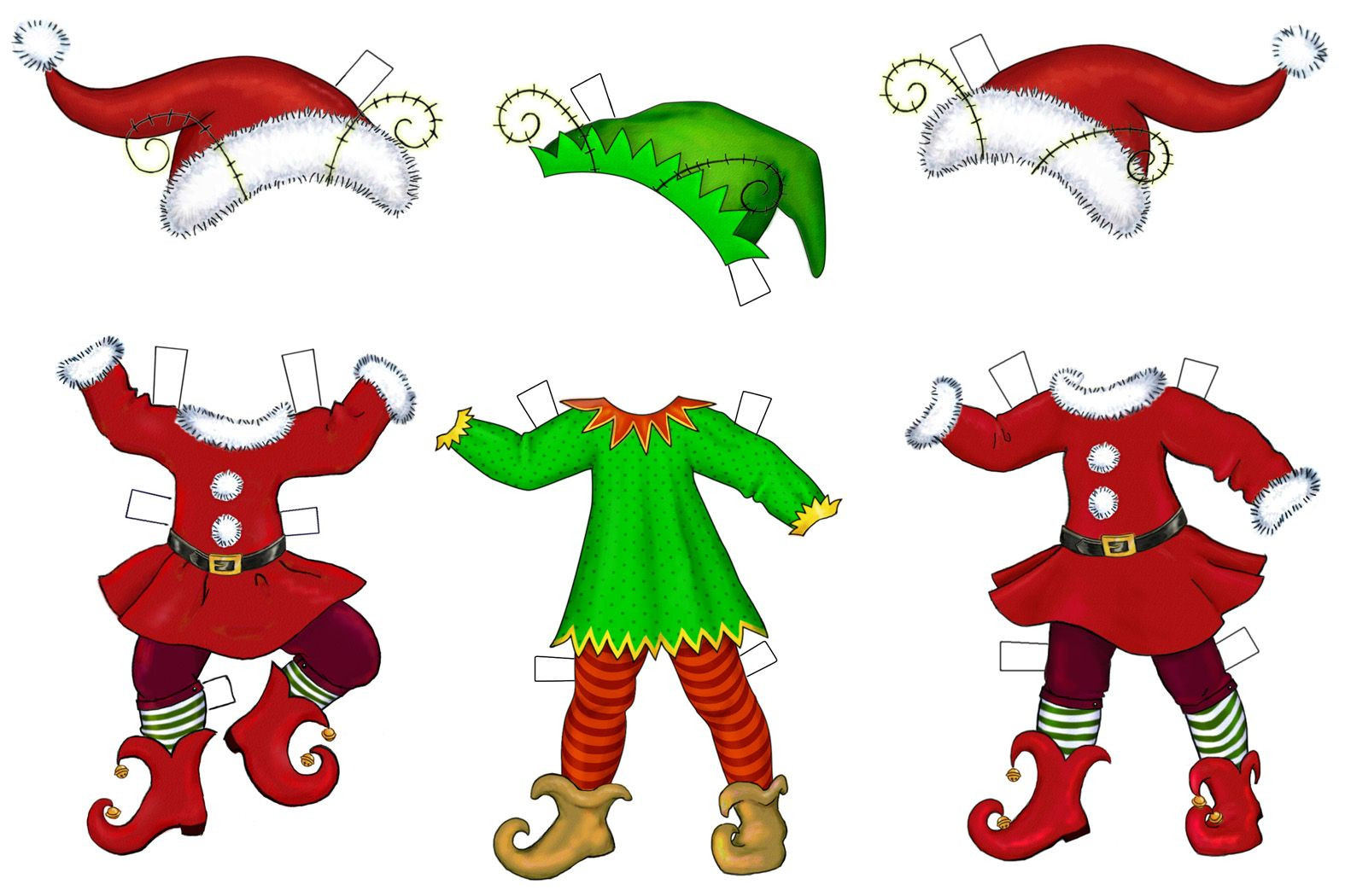 Elf clipart cut out. Christmas hat template fabulous