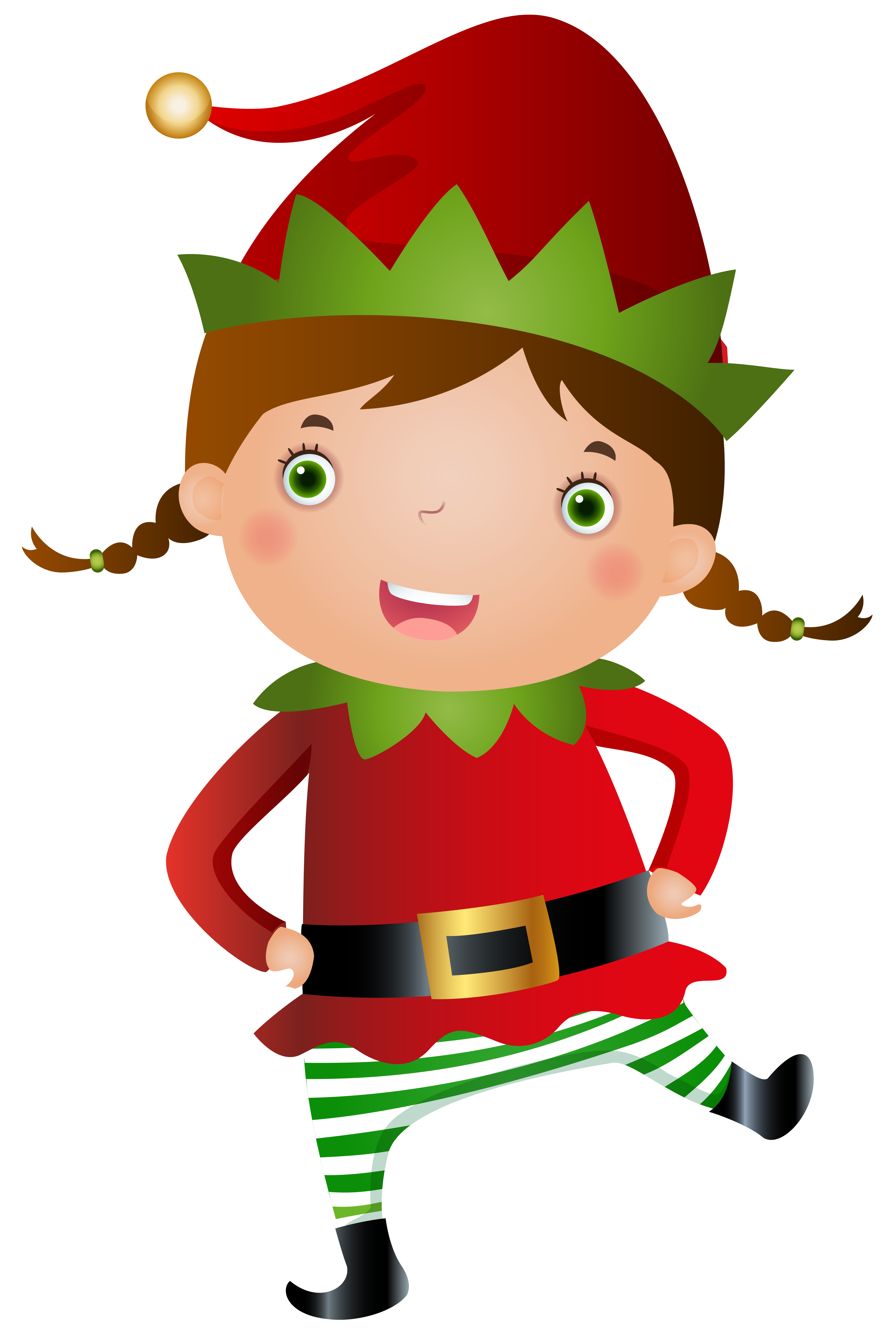 Elf clipart female. Christmas girl www topsimages