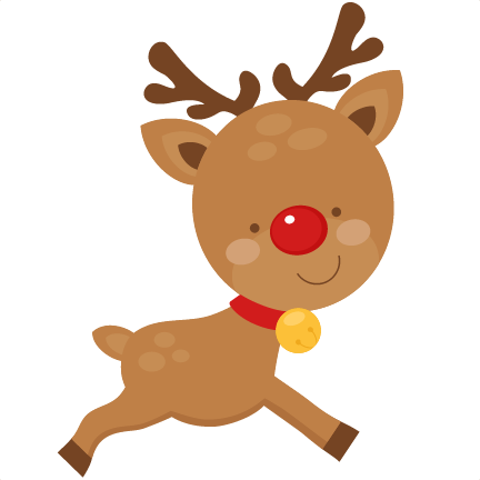 Elf clipart kawaii. Christmas reindeer scrapbook cut