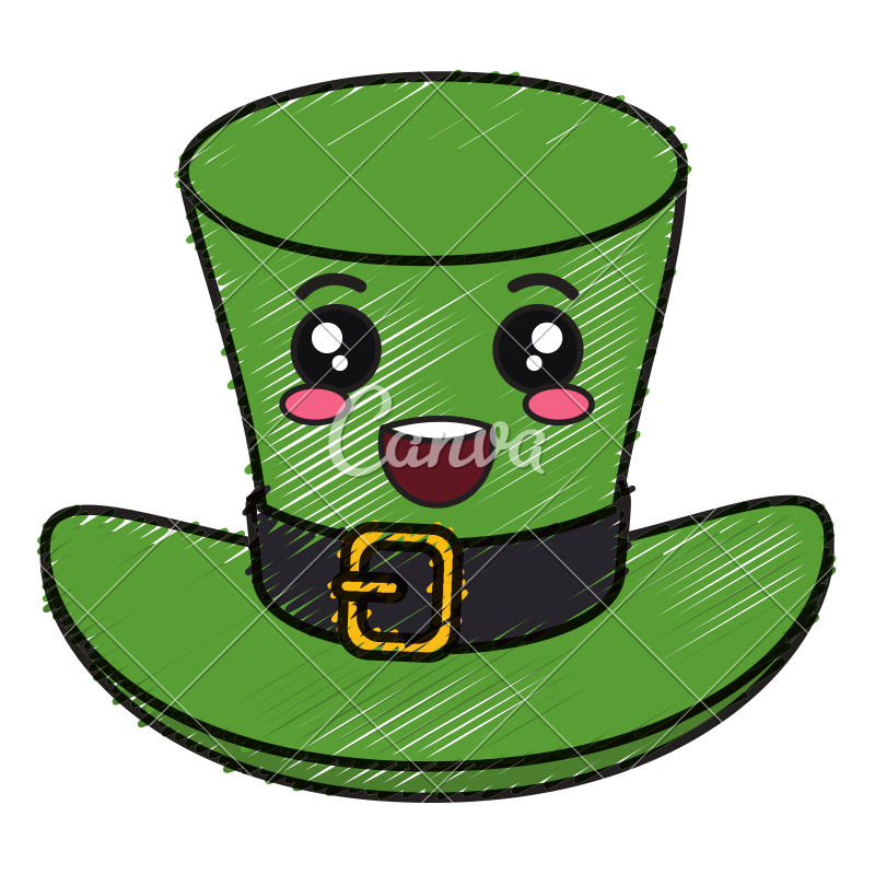 Elf clipart kawaii. Irish hat saint patrick