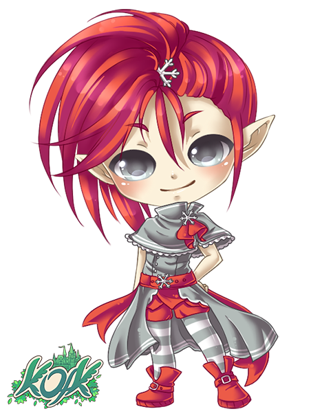 Elf clipart kawaii. Anime png images gallery