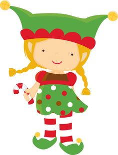 Elf clipart kawaii. Christmas happy elves clip