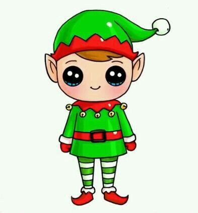 Elf clipart kawaii. Pin by ori on