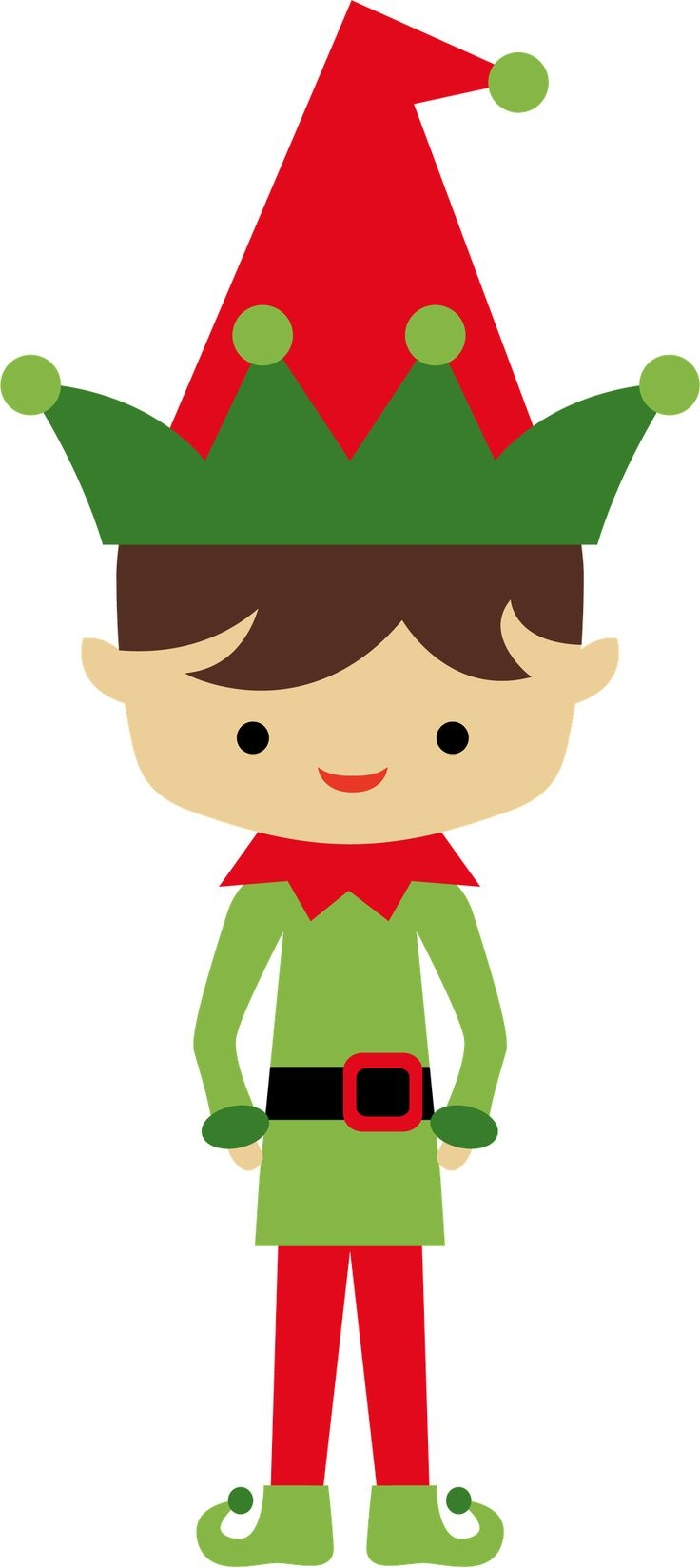 Elf clipart thing. Awesome christmas design digital