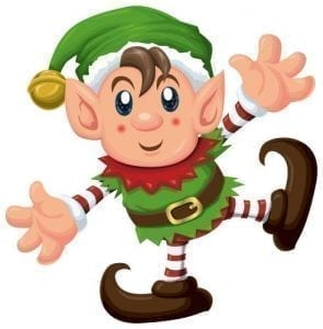 Elf clipart thing. Christmas on picasa and