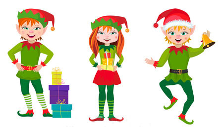 Elf clipart traditional. Christmas elves pictures group